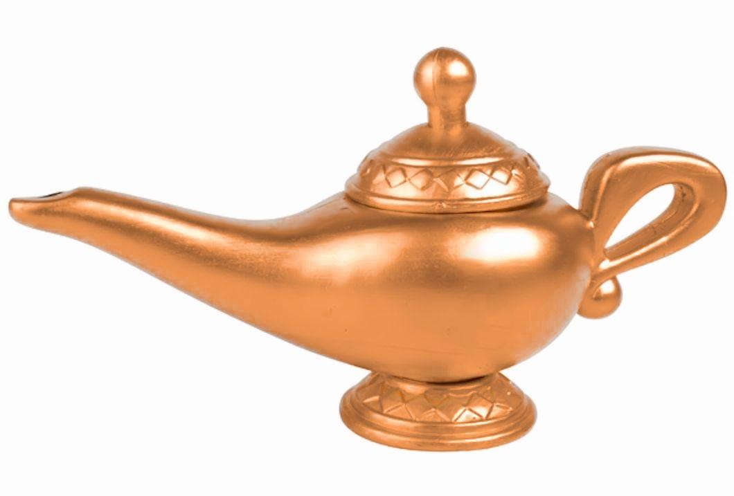 Magic Genie Arabian Aladdin Lamp Costume Accessory Brass ...