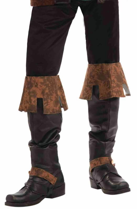 renaissance boot top covers mens fancy dress costume