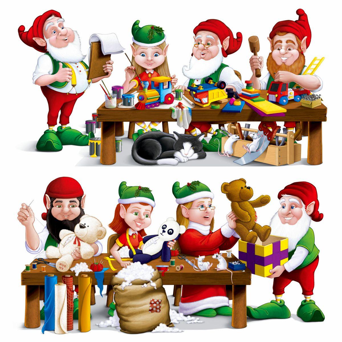 Christmas Decoration Santa's Toy Workshop Prop Instant